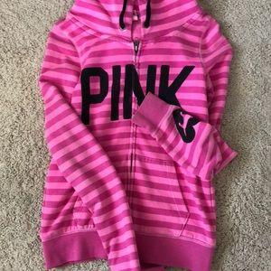 Tops - Victoria secret pink zip up hoodie size small